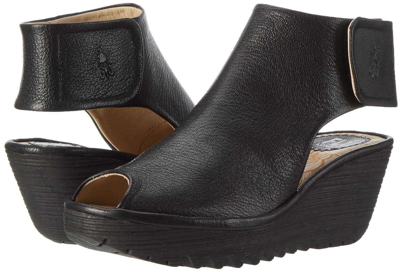 FLY London Women's Yone642fly Ankle Bootie B01HJCNBRU 41 EU/10 - 10.5 M US|Black Mousse