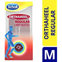 Scholl Orthaheel Regular Orthotic Insoles, Medium UK Shoe Size 7-9, 1 Pair