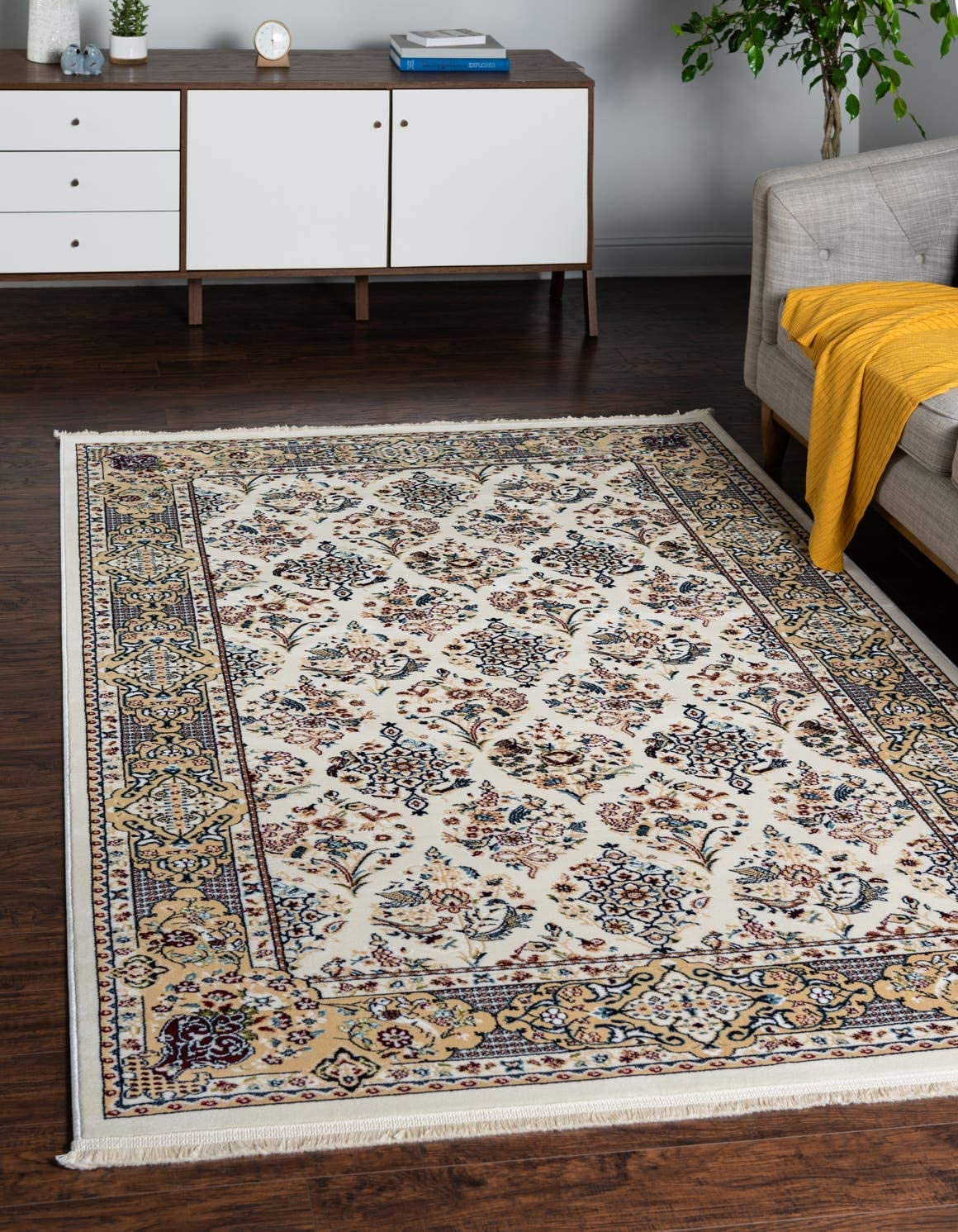 Unique Loom Narenj Collection Classic Traditional Repeating Pattern Ivory Area Rug 8 0 x 10 0