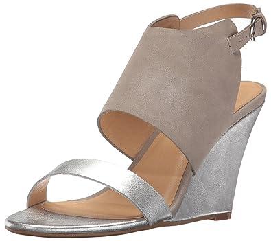 CL by Chinese Laundry Women's Baja Wedge Pump Sandal, Silver/Multi  Metallic, 5.5