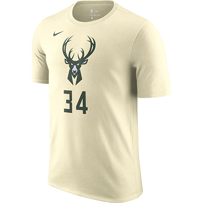 Nike NBA Milwaukee Bucks Giannis Antetokounmpo 34 2017 2018 City Edition Name & Number Official,