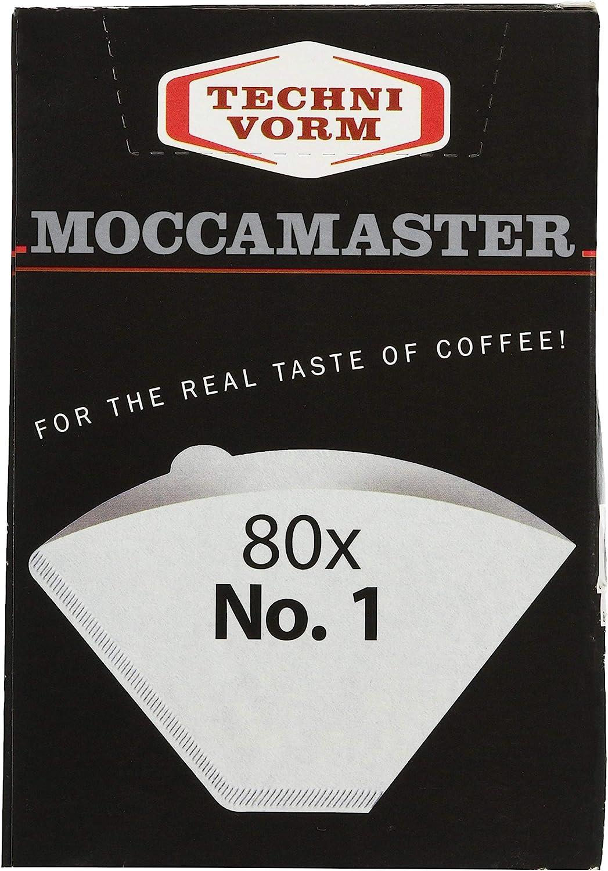 Technivorm Moccamaster 85090 Cup-One - Filtro de papel, color blanco