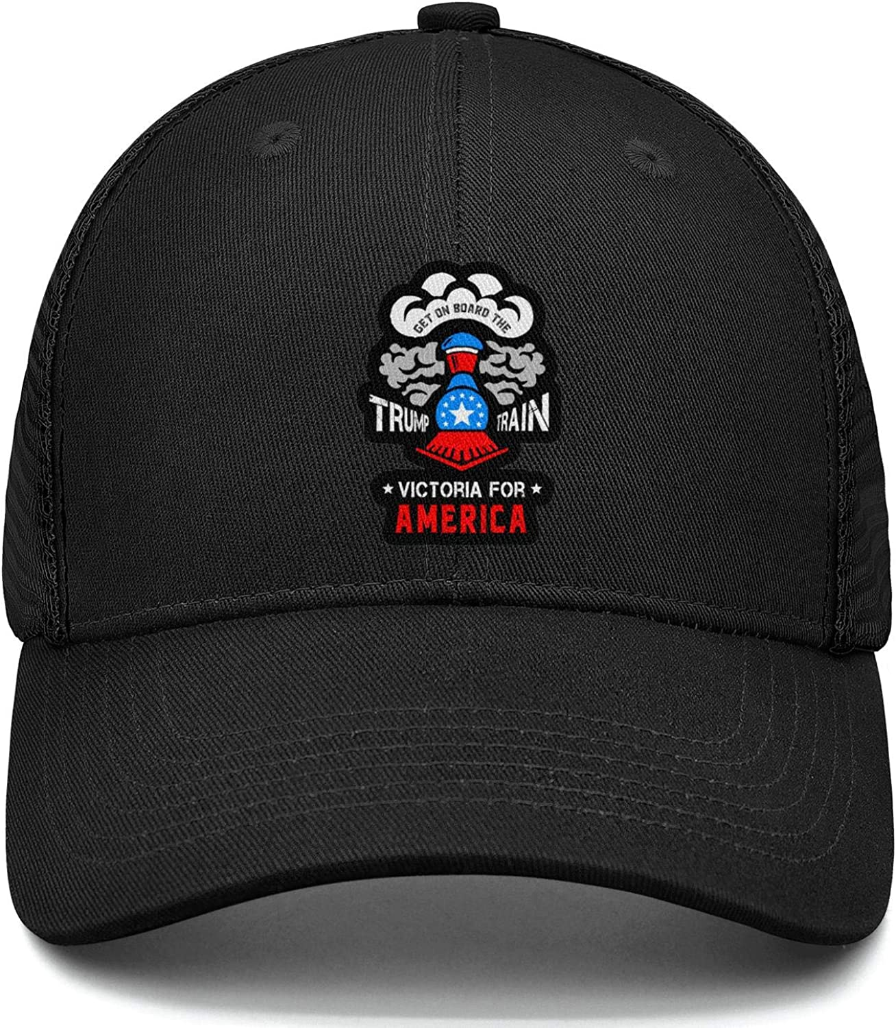 Unisex Get on Board The Trump Train Victoria for America Baseball Cap Mesh Classic Trucker Hat