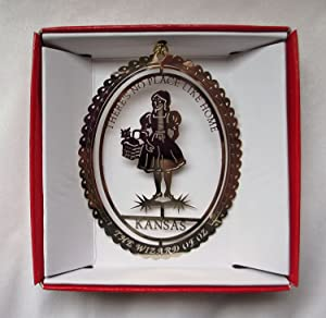 Wizard of Oz Christmas ORNAMENT There's No Place Like Home Dorothy Toto & Ruby Slippers