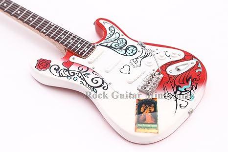 RGM97 Jimi Hendrix Monterey Mini guitarra en miniatura miniaturas de guitarra de Rock psicodélico guitarra son