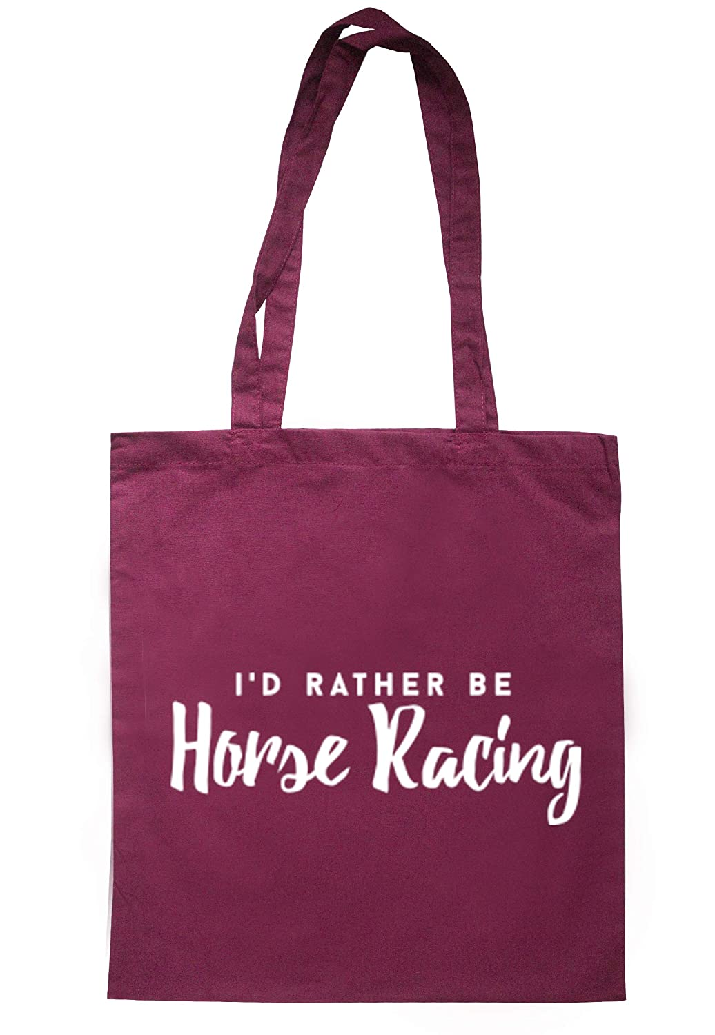 illustratedidentity I'd Rather Be Horse Racing Tote Bag 37.5cm x 42cm with long handles TB0160-TB-NV