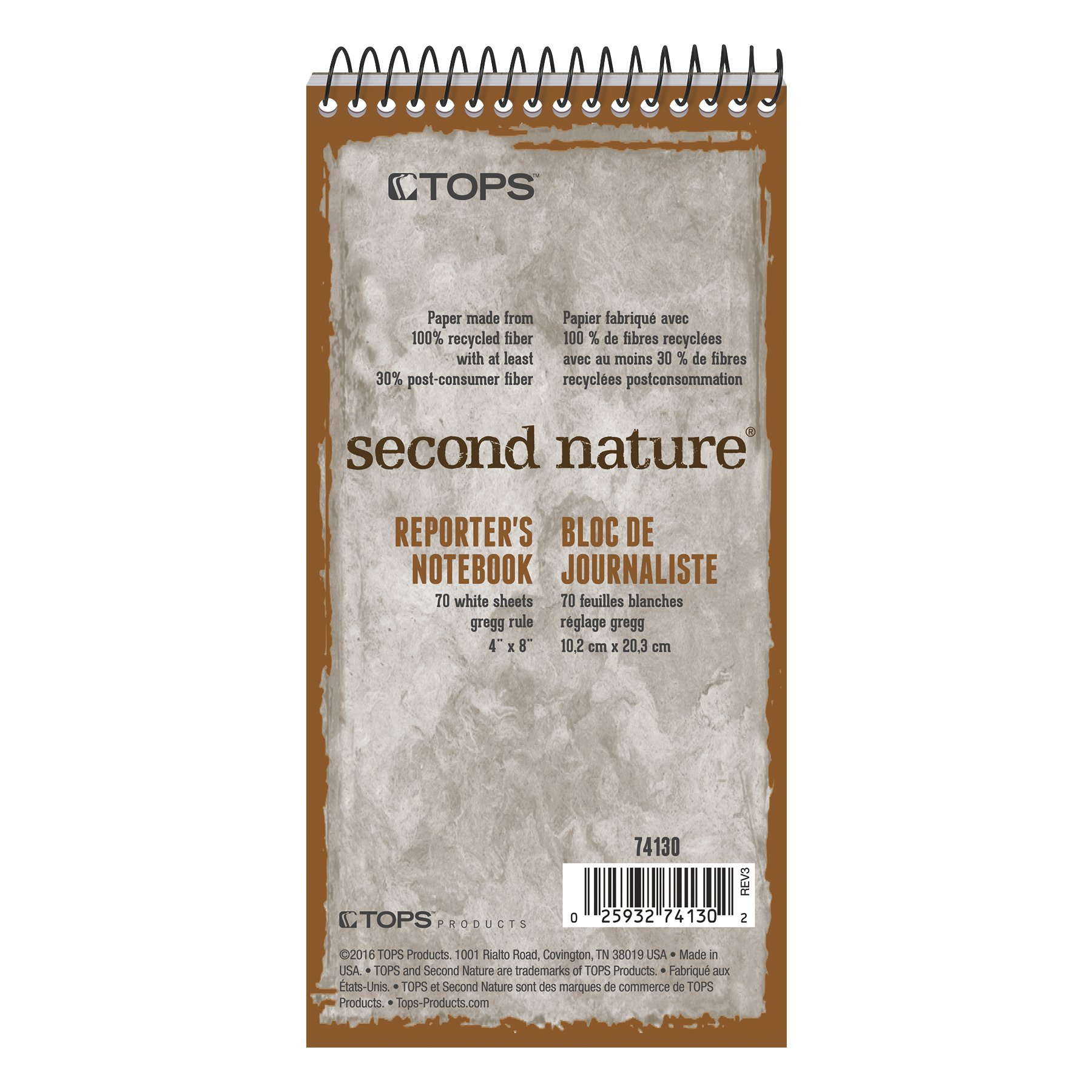 Tops Recycled Gregg Rule Steno Pad (TOP74130)