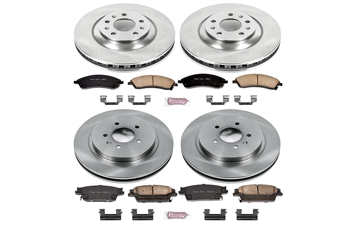 Autospecialty Front and Rear Power Stop KOE2875 Daily Driver OE Brake Kit