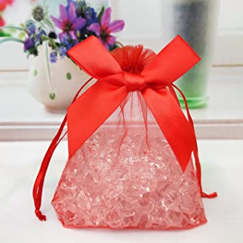 42065d3899a 20 PCS Organza Bag Wedding Candy Food Packaging Bags with Drawstring ...