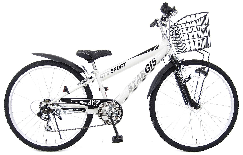 22インチ スタージス 6段変速 LEDオートライト 組み立て式自転車 B07BWJ5GY9 ホワイト ホワイト