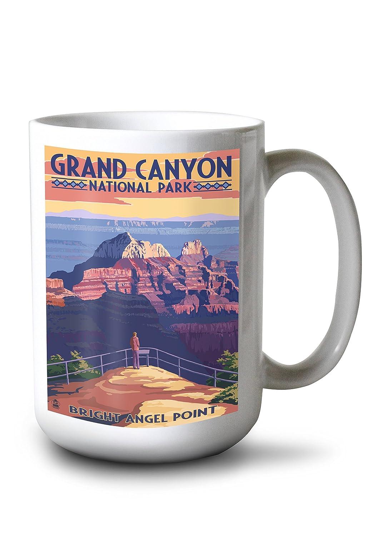 クラシック Grand Park Canyon National Mug Park - Bright Angel Press Point (16x24 Giclee Gallery Print, Wall Decor Travel Poster) by Lantern Press B077RS89G7 15oz Mug 15oz Mug, 楽器天国:4227b52c --- desata.paulsotomayor.net