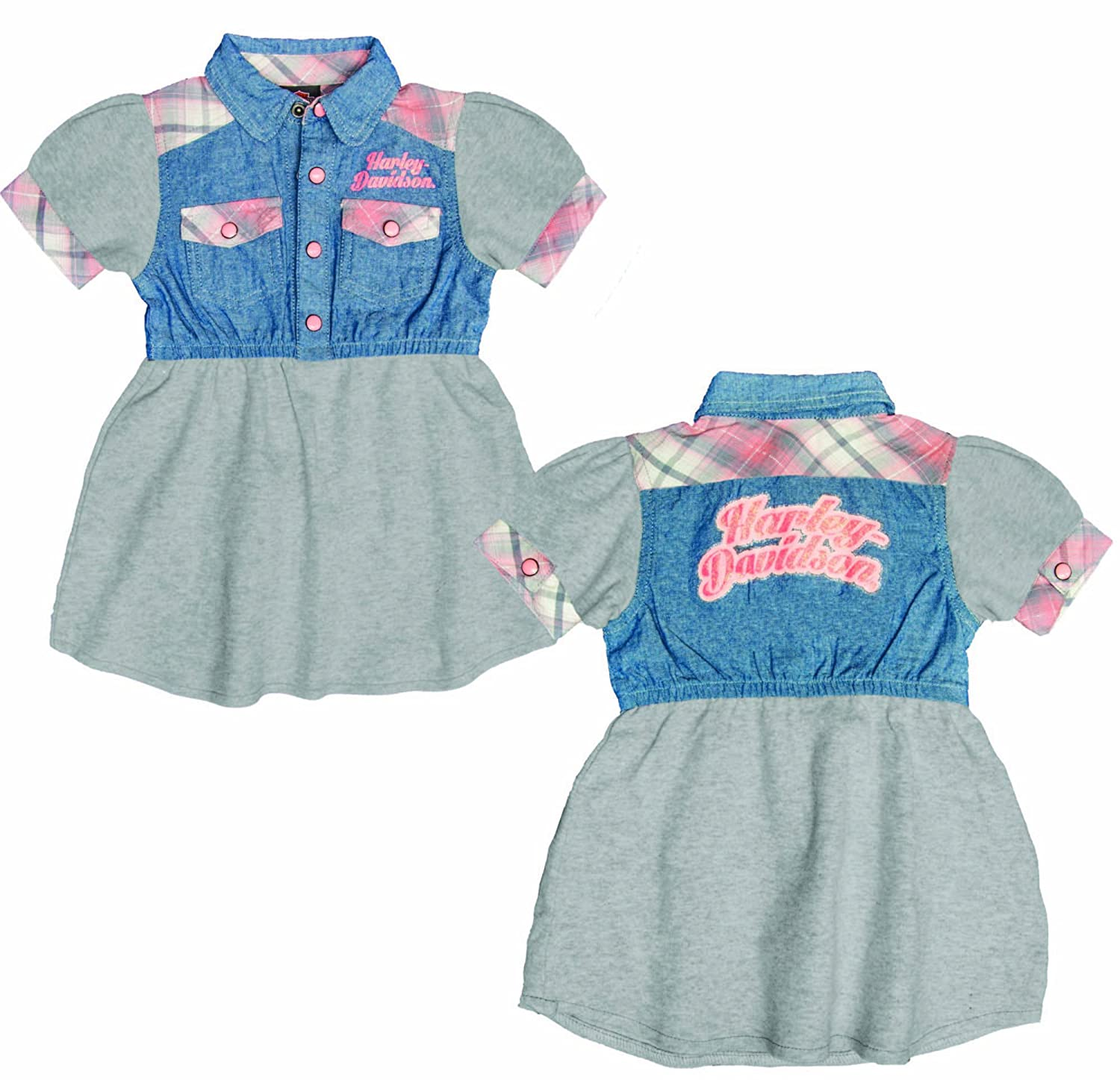 Amazon Harley Davidson Toddler Girls Clothes Denim Dress 2T
