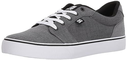 DC Mens Anvil TX SE Skate Shoe, Black/Black/White, 6 D D