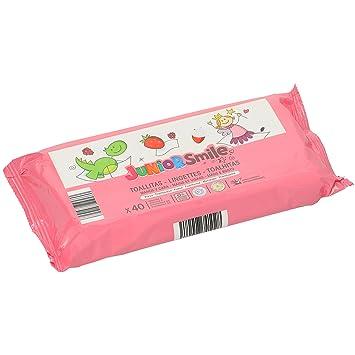 JUNIORSMILE toallitas para manos y cara aroma fresa/frambuesa envase 40 uds: Amazon.es: Bebé
