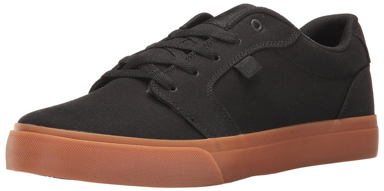 DC Men's Anvil TX Skate Shoe 7 D(M) US|Black/Black/Gum