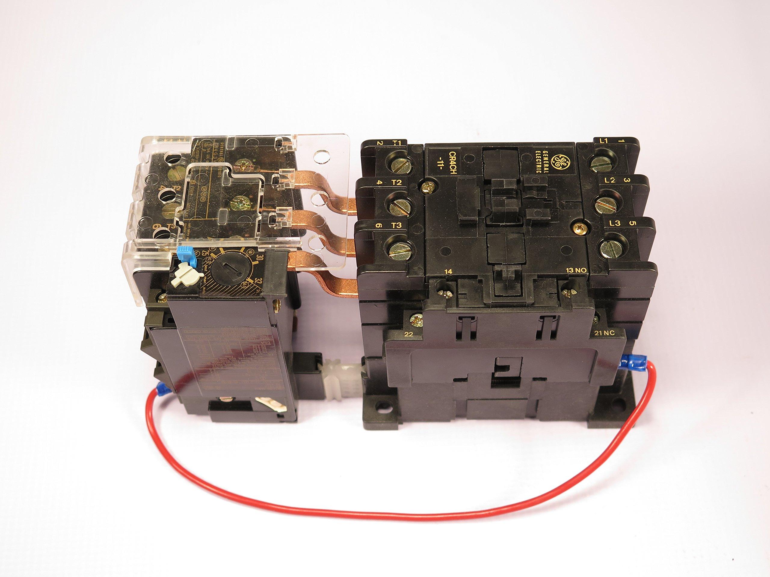 CR4CHH/CR4G3WS GE MAGNETIC MOTOR STARTER OVERLOAD ADJUSTABLE 25-32AMP 24V AC COIL by Sprecher & Schuh (Image #1)