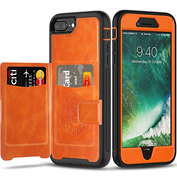 size 40 76400 01b90 iPhone 6 7 8 Plus Case Wallet Case with Kickstand and Extreme Heavy Duty  Protection.SXTech Shockproof Protective Case with PU Leather for iPhone 6 7  8 ...