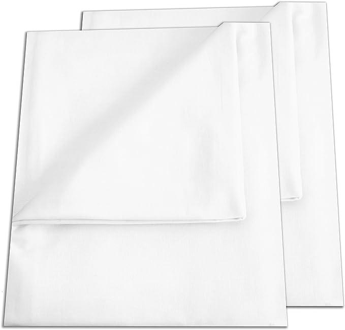 Bettlaken Weiß Baumwolle kochfest Laken Betttuch Schadstoffgeprüfter Stoff