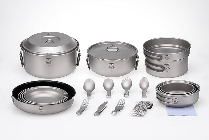 Keith Titanium Ti6201 22-Piece Dinnerware Set for 4