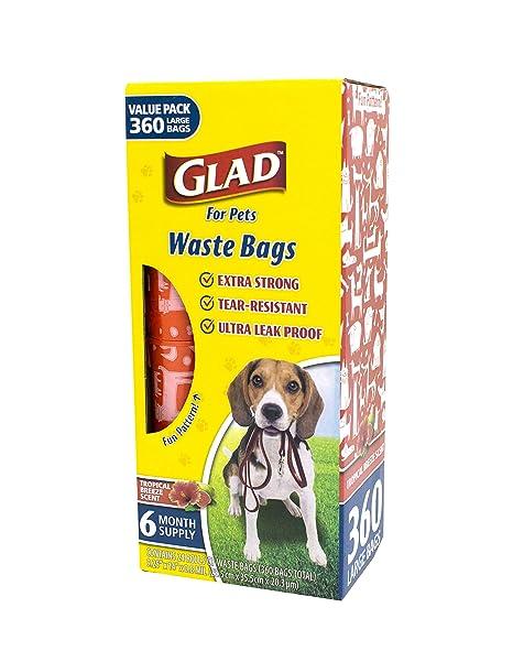Glad for Pets Bolsas de Basura para Perros Grandes ...
