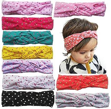 fa422b983 Amazon.com  Toptim Baby Headbands Turban Knotted