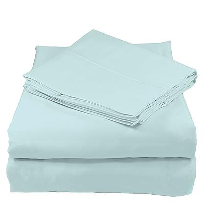 Whisper Organics 300 Thread Count Soft Cotton Queen Bed Sheet Set (GOTS  Certified),