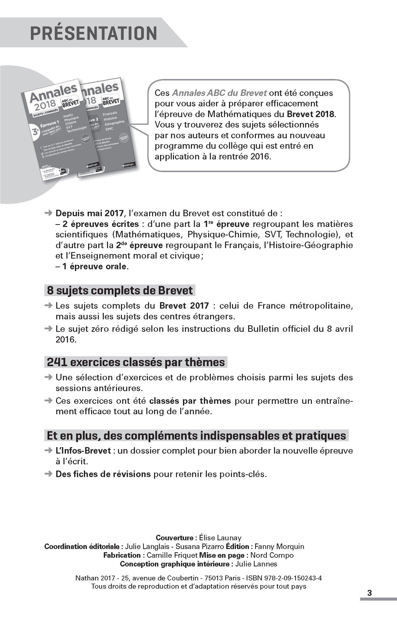 Maths 3e : Sujets (Annales ABC du Brevet): Amazon.es: Carole Feugère, Gilles Mora: Libros en idiomas extranjeros