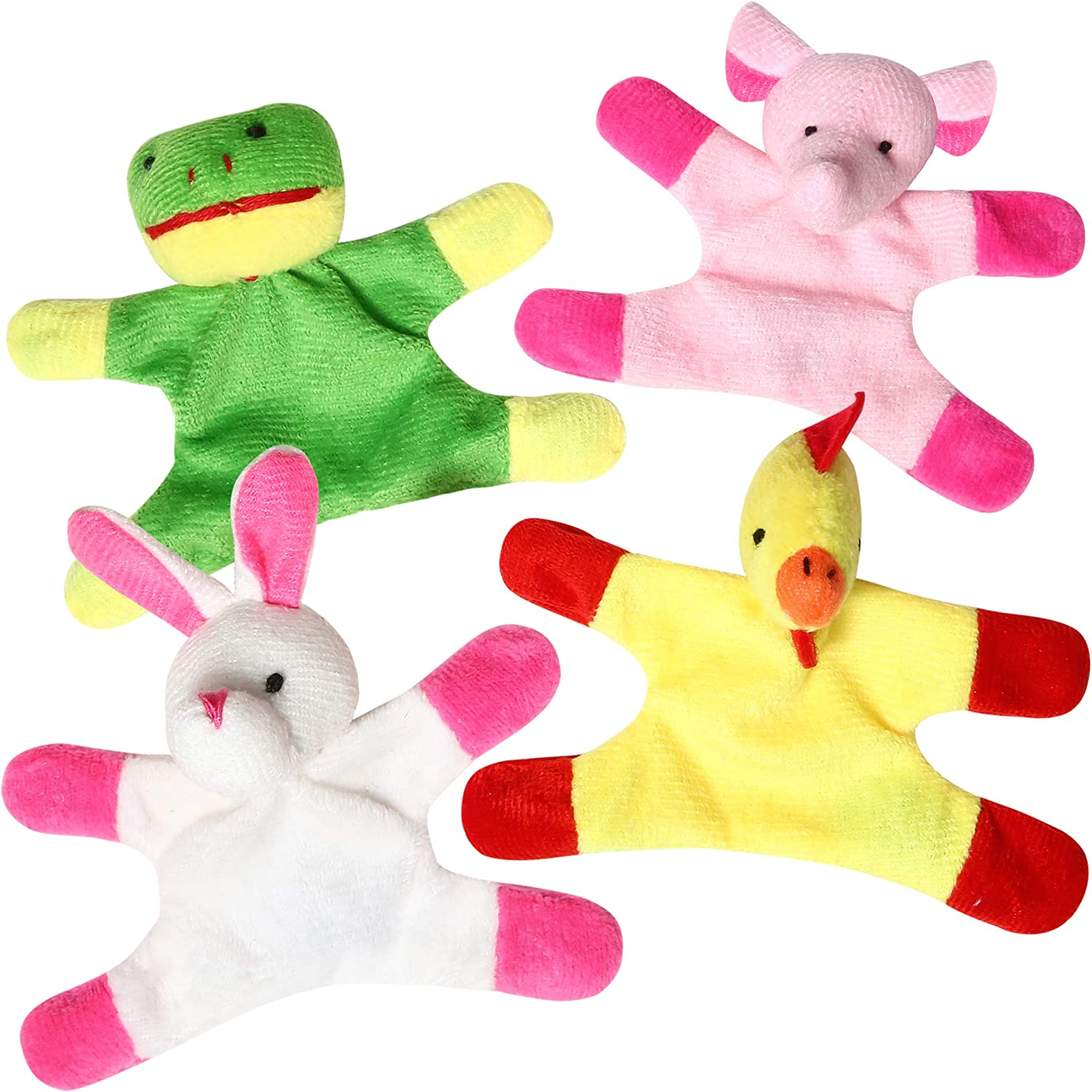 Animal Magnets Toy Set for Refrigerator, Fridge and Board Magnets, Plush Animal Toys (4-Piece Set)