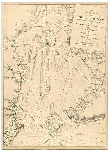 Amazon.com: Delaware Bay DE 1779 Map - Revolutionary War ...