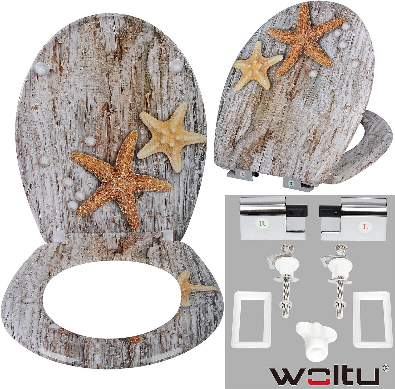 WOLTU/® #314 Copriwater Universali Coprisedili WC con Chiusura Ammortizzata Soft Close Duroplast