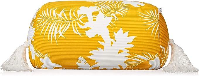 Seafolly Damen Sunhat Printed Beach Pillow with Tassel Trim
