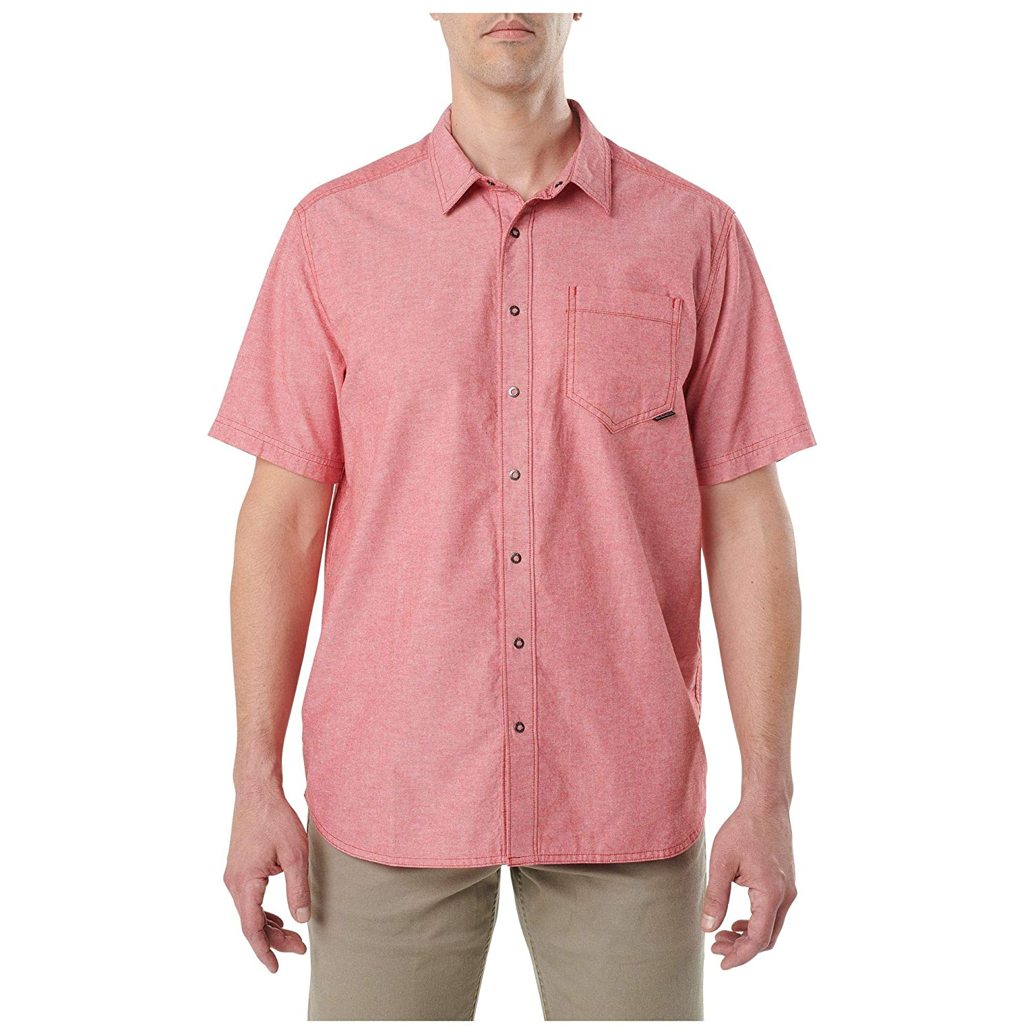 5.11 Tactical Mens Cotton Button-Down Ares Short Sleeve Button-Up Shirt,Style 71372