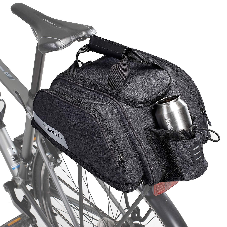 Roswheel エッセンシャルシリーズ コンバーチブル バイク トランクバッグ/パニエ トランクバッグ、含む: 側面の拡張  B07HCG4SMC