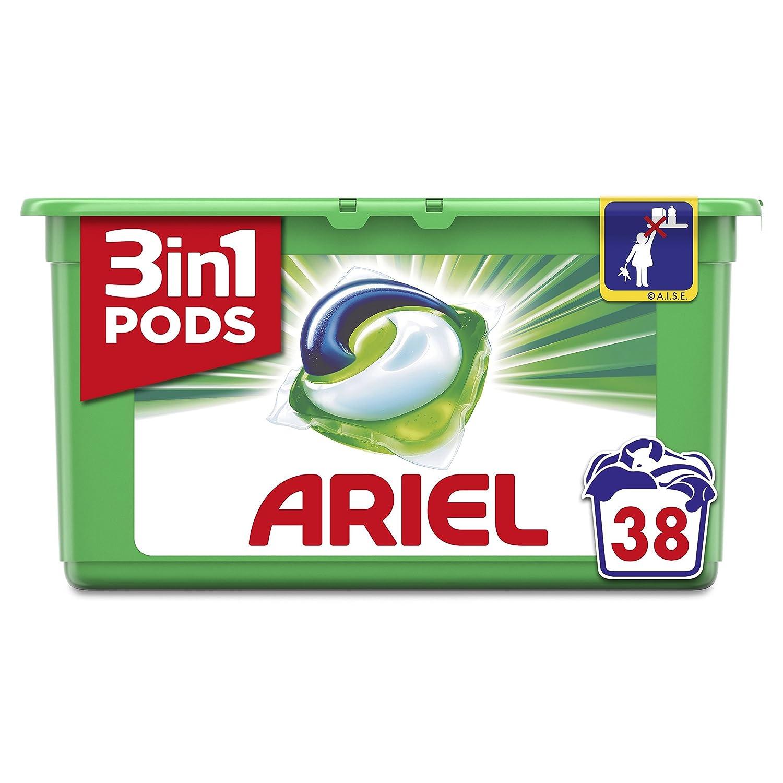 TALLA 38 Capsules. Ariel - 3 in 1 - Detergente en capsulas para lavadora - 38 x 29.9 g