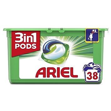 Ariel - 3 in 1 - Detergente en capsulas para lavadora - 38 x 29.9 ...