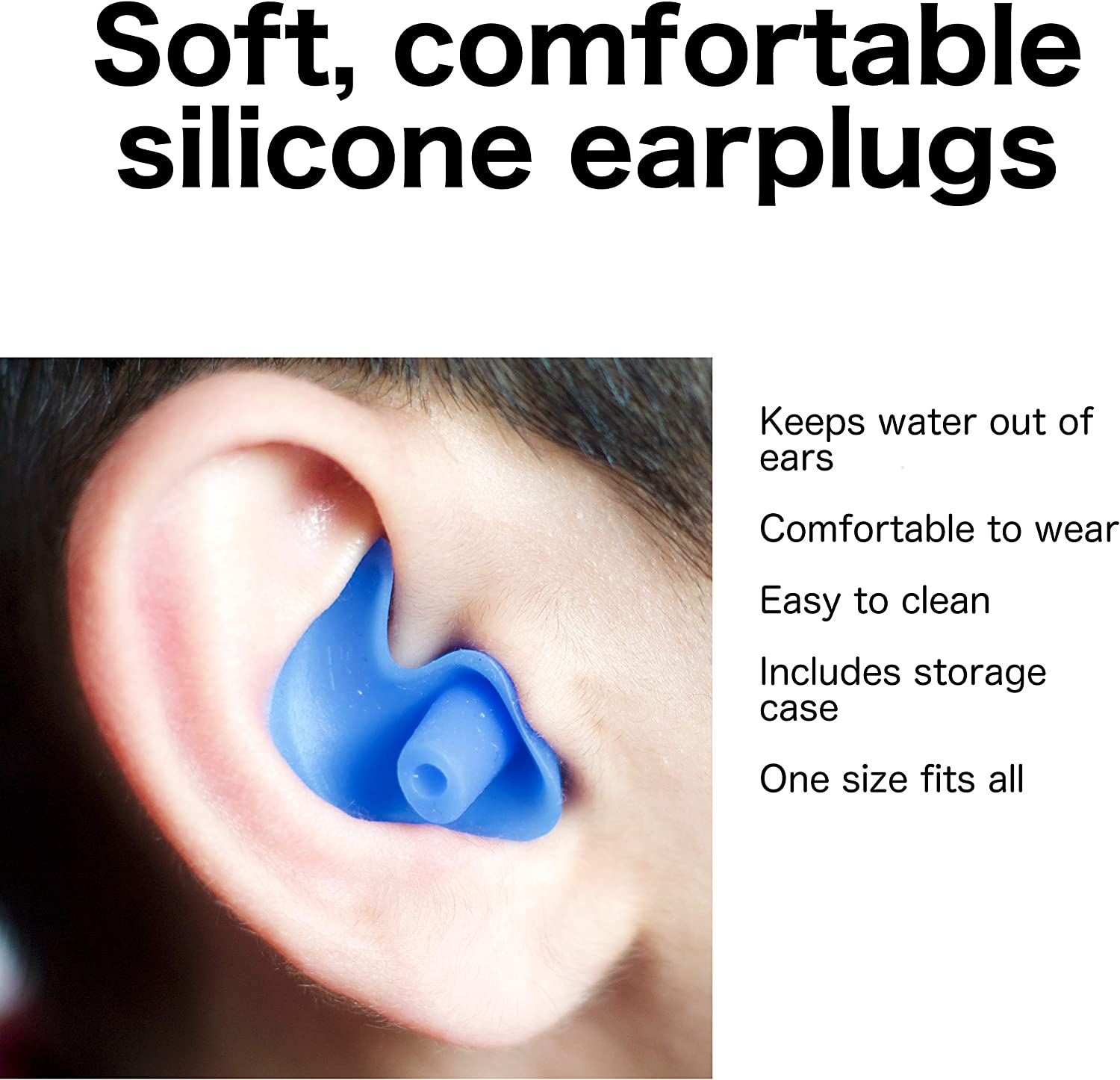 Other Water Sports Comfortable Silicone Earplugs for Swimming AC Soft Showering