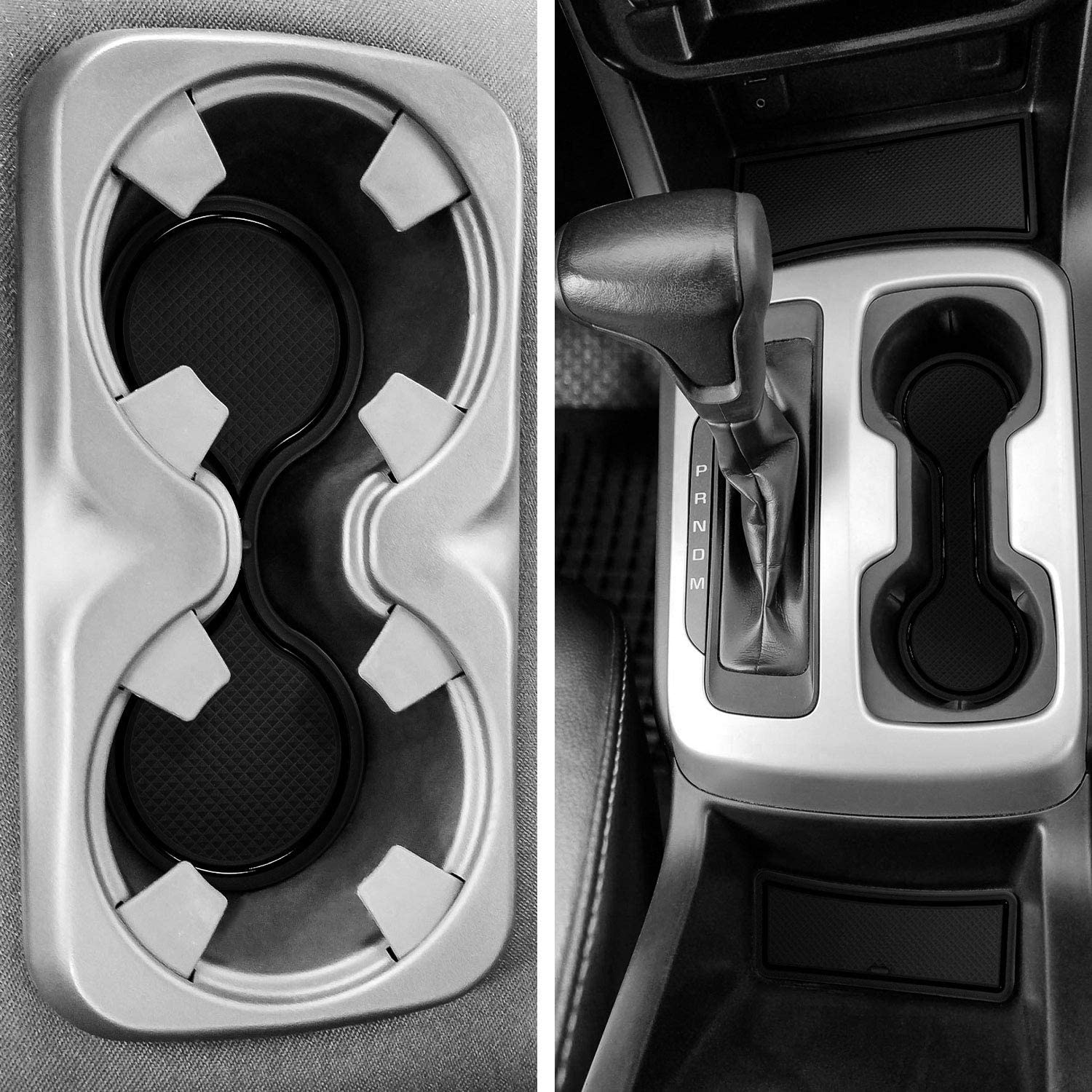 Solid Black and Door Pocket Inserts 26-pc Set Console LAIKOU for Chevy Colorado and GMC Canyon 2015 2016 2017 2018 2019 2020 Custom Liner Accessories Premium Cup Holder