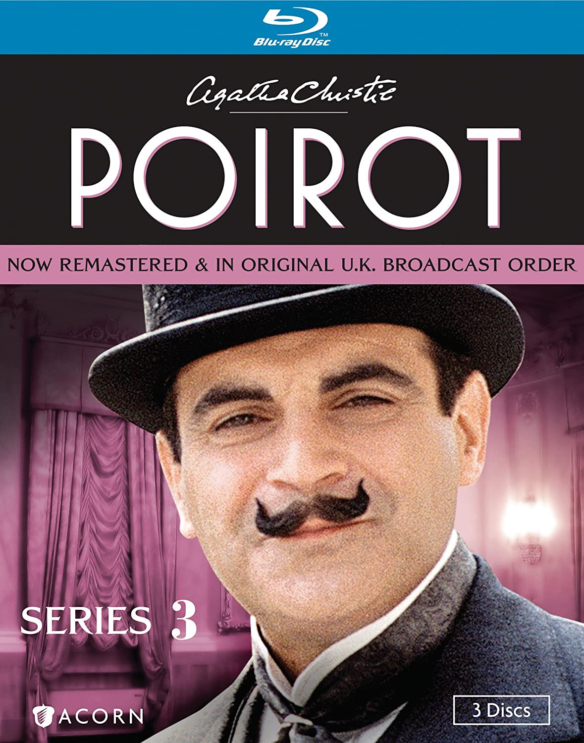 Agatha Christie S Poirot Series 3 Blu Ray David Suchet Hugh Fraser Philip Jackson Pauline Moran Movies Tv