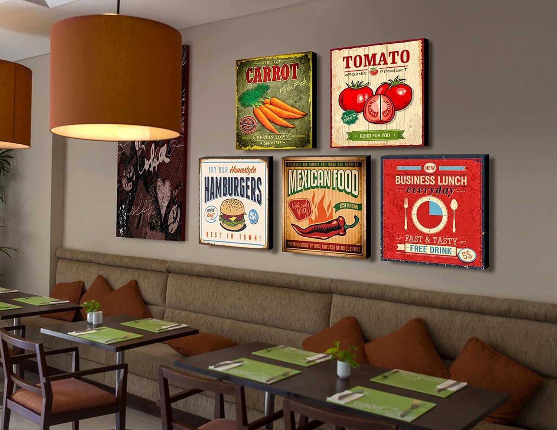 lupia quadro su tela food vintage pizza 40x40 cm amazonit casa e cucina