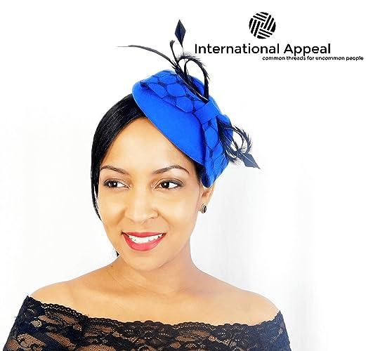 Amazon.com  Blue Felt Fascinator - Women s Hat  Handmade 18efe79bbbe4