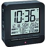 TFA Dostmann 60.2536 Radio Despertador Digital con 4 Tiempos de Alarma (Negro con baterías)