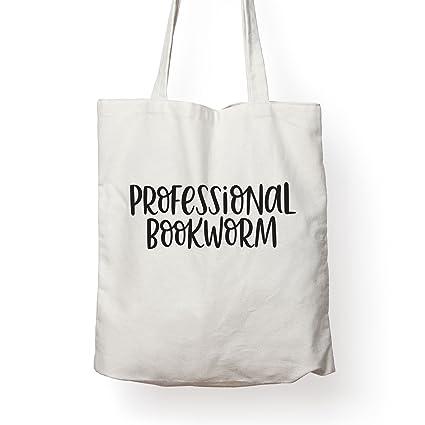 Folio Professional Bookworm - Canvas Tote Bag Ideal Book Gift! Readers Gift Your  Favorite Bookworm 483ec1699e3e1