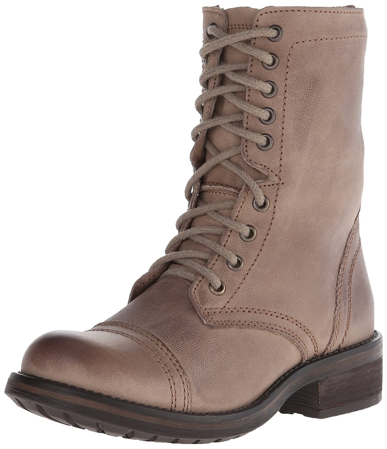 Steve Madden Women's Troopa 2.0 Combat Boot B00RY8V4GA 5.5 B(M) US|Stone Leather