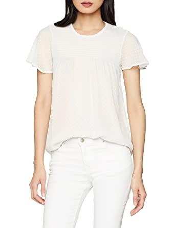 97c8e8ed75b10 Pimkie CHSS18 GERMA, Blouse Femme, (Blanc 912a09), Small (Taille Fabricant