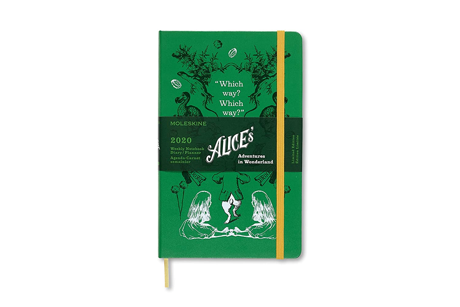 Moleskine Limited Edition Alice in Wonderland 12 Month 2020 Weekly Planner, Hard Cover, Large (5