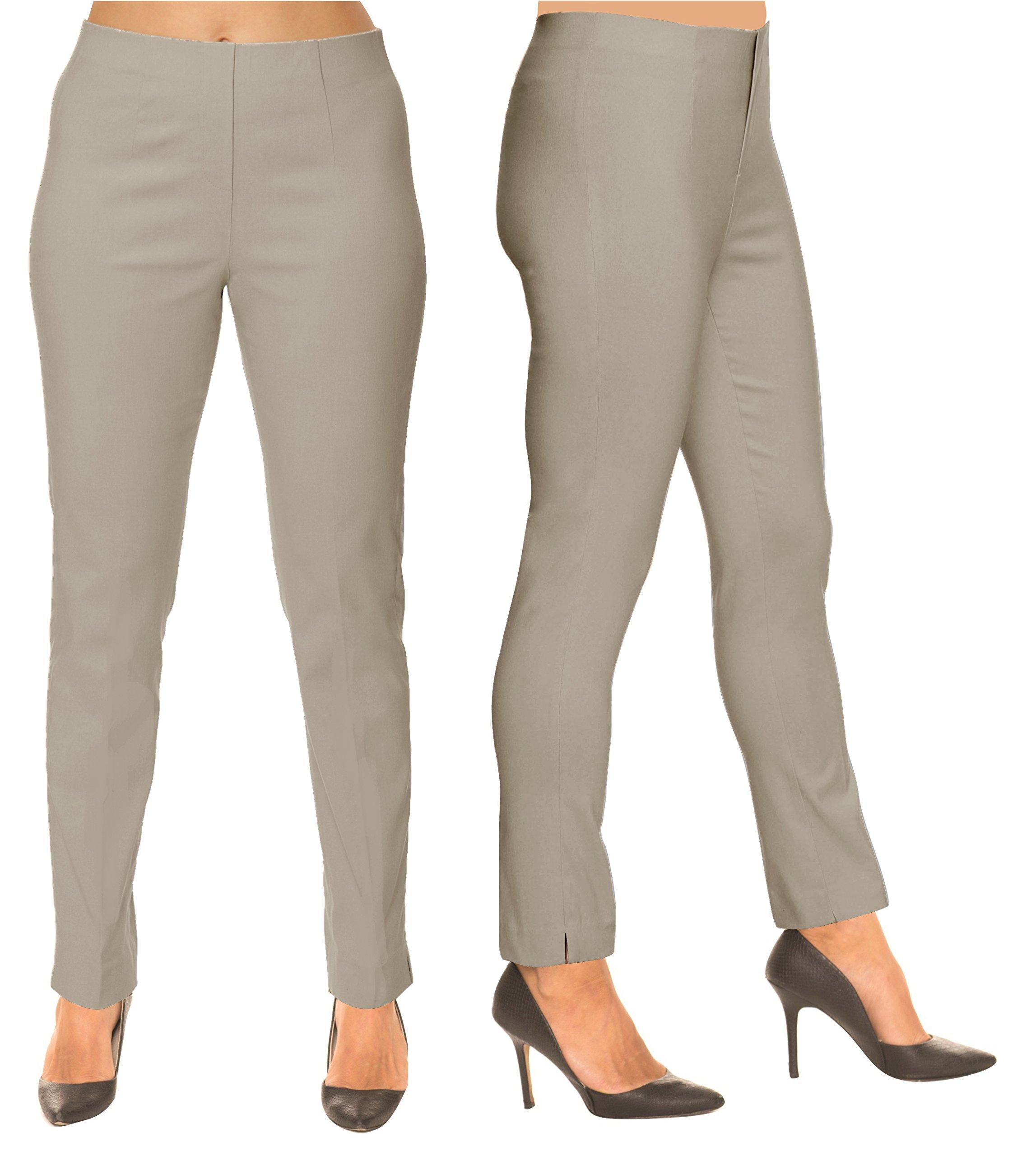 Lior Paris SASHA Essential Slim Fit Ankle Pant (6,Lt Taupe)