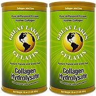Great Lakes Gelatin, Collagen Hydrolysate, Beef, Kosher, 16 oz. 2 Pack