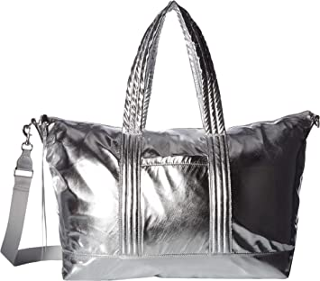 9cf5dbd59 Amazon.com: Rebecca Minkoff Women's Washed Nylon Weekender Silver One Size:  Shoes