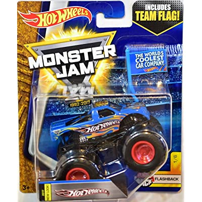 HOT WHEELS MONSTER JAM 2020 TEAM FLAG HOT WHEELS FLASHBACK 1/6 NEW LOOK 2020 ( THE WORLDS COOLEST CAR COMPANY): Toys & Games