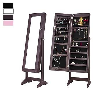 Amazon Com Cloud Mountain Mirrored Jewelry Cabinet Free Standing
